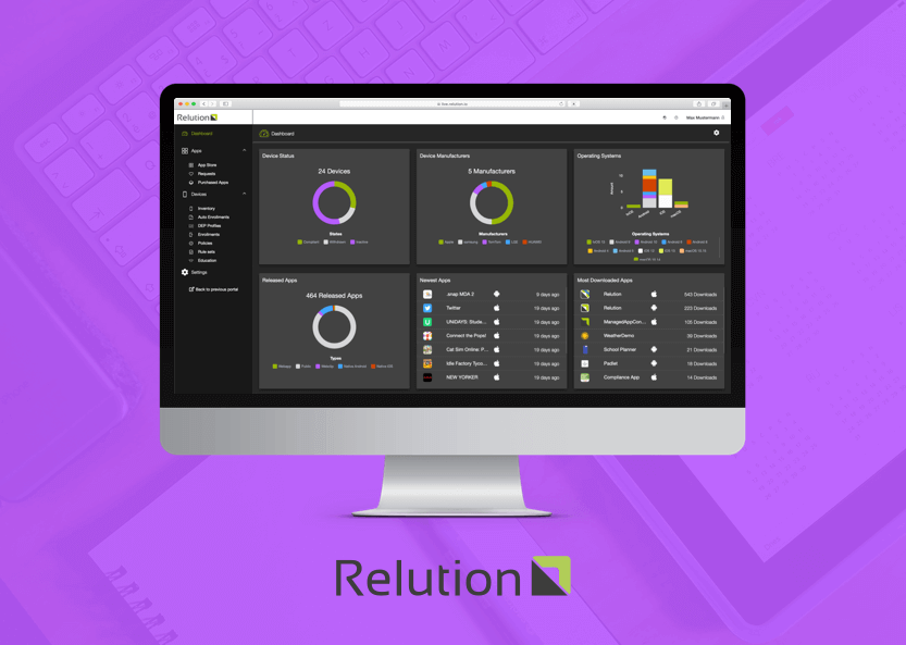 Test now - Relution in a new look&feel