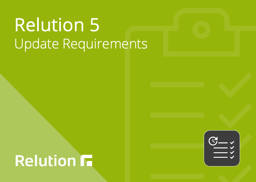 Relution 5 Update checkliste