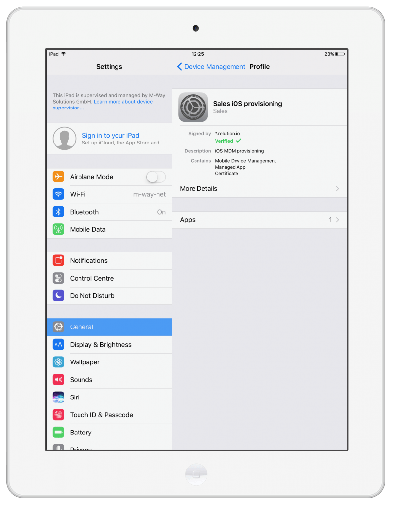 Factory reset of supervised iPad Air 2