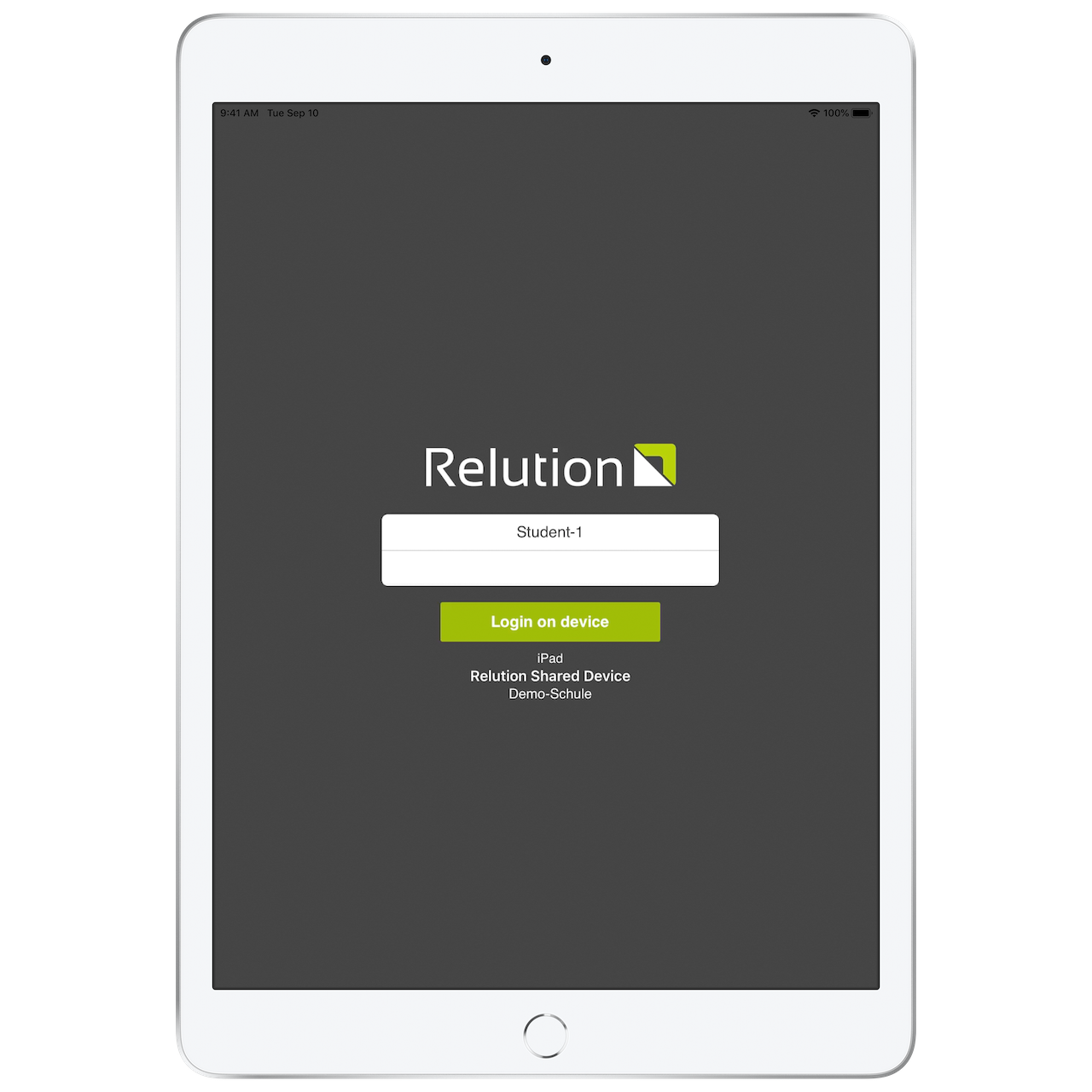 Relution shared iPad 1